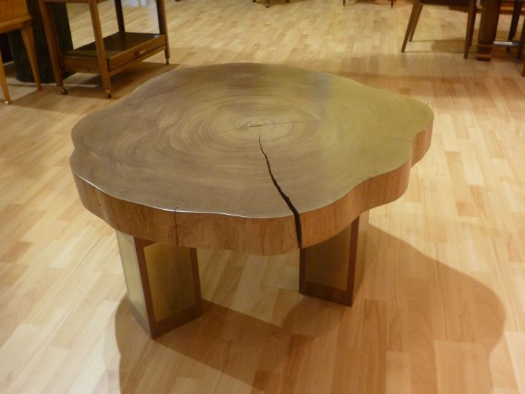 Table basse avec tronc darbre for Table plateau tronc d arbre